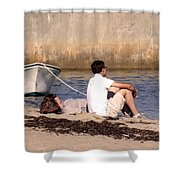 A Peaceful Day At Provincetown  Shower Curtain