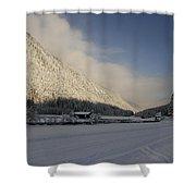 A Peaceful Snow Landsscape Shower Curtain