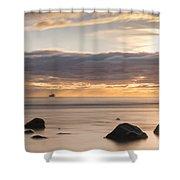 A Peaceful Sunrise Shower Curtain