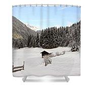 A Peaceful Winterscene Shower Curtain