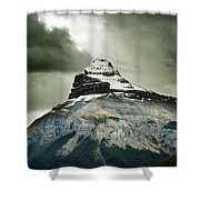 A Peak Of A Mountain Top In The Rocky Shower Curtain