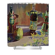 A Pear And Three Of A Kind Shower Curtain
