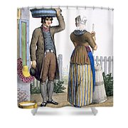 A Peasant Couple Of Parmerend, North Shower Curtain