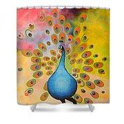 A Peculiar Peacock Shower Curtain
