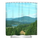 A Peek At Lake Coer D'alene  Shower Curtain