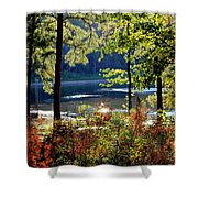 A Peek At Lake O The Pines Shower Curtain