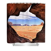 A Peek Into Monument Valley Shower Curtain