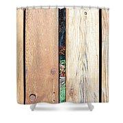 A Peek Through Wood Shower Curtain