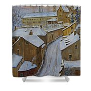 A Perfect Winter Night Shower Curtain