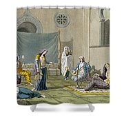 A Persian Harem, From Le Costume Ancien Shower Curtain