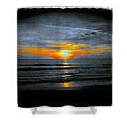 A Phoenix Firebird Sunset Shower Curtain