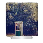 A Phone In A Booth? Shower Curtain