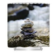 A Pile Of Stones Shower Curtain