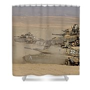 A Platoon Of Israel Defense Force Shower Curtain