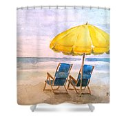 A Pleasure Island Afternoon Shower Curtain
