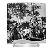 A Portable Jazz Band In Miami Shower Curtain
