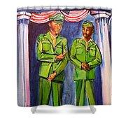 Daddy Soldier Shower Curtain