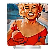 A Portrait Of Marilyn Shower Curtain