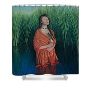 A Prayer For The Waters Shower Curtain