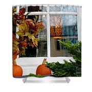 A Pretty Autumn Window Shower Curtain