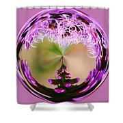 A Purple Design Shower Curtain