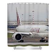 A Qatar Airways Cargo Boeing 777 Shower Curtain