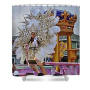 A Queen Of Carnival During Mardi Gras 2013 Shower Curtain