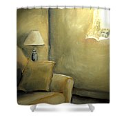 A Quiet Room Shower Curtain