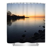 A Quiet Sunrise - Toronto Lake Ontario Shower Curtain