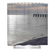 A Quite Beach Day Shower Curtain