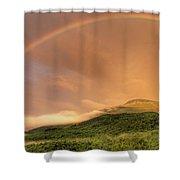 A Rainbow Appeared Over Mt. Washington Shower Curtain