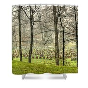 A Rainy Day At The Cemetery Shower Curtain