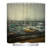 A Rainy Evening On The Port Shower Curtain