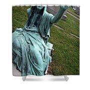 A Raised Hand -- Thomas Trueman Gaff Memorial -- 2 Shower Curtain