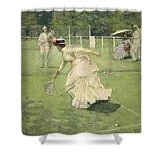 A Rally, 1885 Shower Curtain by Sir John Lavery