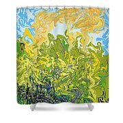 A Reflected Sky Shower Curtain