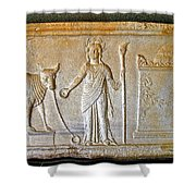 A Relief In Bergama Museum-turkey Shower Curtain