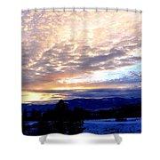 A Remarkable Winter Evening Shower Curtain