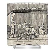A Respiration Experiment Shower Curtain