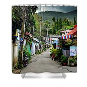 A Road Shower Curtain