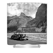 A Roadster In The Rockies Shower Curtain