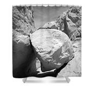 A Rock In A Hard Place. Shower Curtain