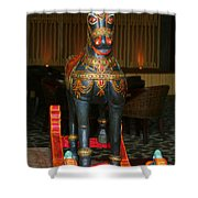 A Rocking Horse Of Many Colors Shower Curtain