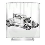 A Rod Shower Curtain