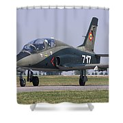 A Romanian Air Force Advanced Trainer Shower Curtain