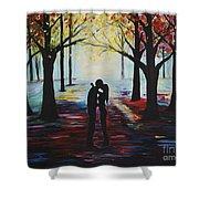 A Romantic Kiss Shower Curtain