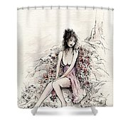 A Romantic Moment Shower Curtain
