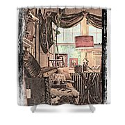 A Room With An Invitation Shower Curtain