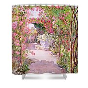 A Rose Arbor And Old Well, Venice Shower Curtain