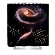 A Rose Made Of Galaxies For Spock Shower Curtain